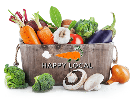 local vegetables and fruits - Happy Local
